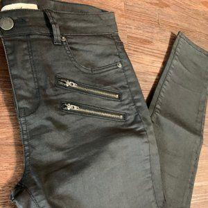 Life In Progress Coated Skinny Black Jeans